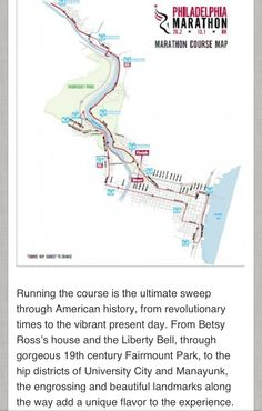 Philadelphia Marathon course route. The 2013 race will follow this same route. Sign up today! http://philadelphiamarathon.com/ #phillymarathon