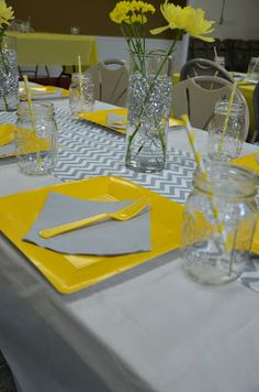 Yellow & Gray Chevron Bridal Shower | My Life As A Long | www.mylifeasalong.blogspot.com
