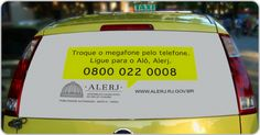 Alerj continua sua campanha nos táxis da Farol