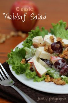Classic Waldorf Salad...Just made this and it's fabulous! Didn't change a thing (~_~)