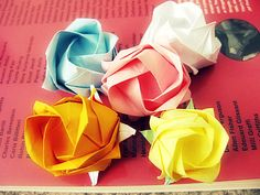 origami rose http://www.instructables.com/id/Origami-rose-1/?ALLSTEPS