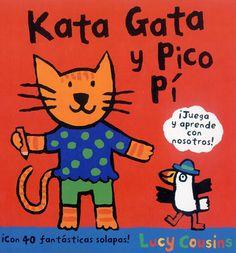 Kata Gata y Pico Pí son dos simpáticos animales con los que los más pequeños aprenderán los colores, los números, algunas comidas y muchas cosas más. Todas las respuestas están escondidas detrás de divertidas solapas que les ayudarán a aprender palabras, identificar formas y desarrollar su capacidad de observación. Los términos son básicos, adecuados al vocabulario de estos primeros lectores. Las ilustraciones son de colores vivos, entornos definidos y formas sencillas.
