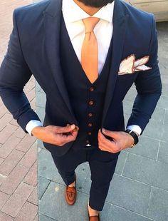 Wedding Suits men suits style -- Click Visit link for more info Men's Suits, Cool Suits, Blue Suits, Stylish Men, Men Casual, Best Suits For Men, Formal Suits For Men, Suit For Men, Suit Combinations
