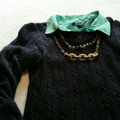 J. Crew Cable knit Sweater 40% merino wool 30% viscose 20% angora rabbit hair 10% cashmere. In good used condition, has some pilling shown in second photo, and some light spots in fabric but looks fantastic paired with a button down shirt and some layering necklaces!. Dry clean only. No trades or holds!  *necklaces are for sale in @algould closet (it's my mom!) J. Crew Sweaters Crew & Scoop Necks