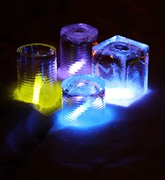 Glow Stick Ice Candles. These would be so cool in a snow fort! (via amandaformaro for Kix Cereal)
