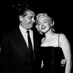 Marilyn Monroe and Milton Berle at Jackie Gleason's birthday party, 1955.