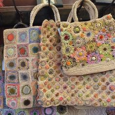 Crochet Bags Ideas Decided to repost these divine bags by Sophie Digard….the colours are so beautiful, it is always a challenge to capture their true colours. Freeform Crochet, Crochet Art, Crochet Motif, Crochet Patterns, Crochet Handbags, Crochet Purses, Crochet Scarves, Sac Granny Square, Art Textile