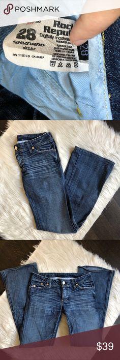 9f5af3e61a4e ROCK   REPUBLIC Skynard sknkr Flare Denim Jeans Rock   Republic Skynard  flared jeans In excellent