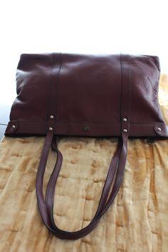 vintage John Romain Brown Leather Handbag -- Handbags - Inspirations by Rebecca -- vintage John Romain -- www.inspirationsbyrebecca.com