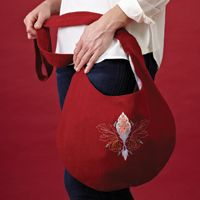 Casual Carryall Free Bag Pattern | May/June 2012 | Creative Machine Embroidery