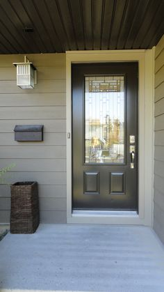 Naples glass insert by Masonite, Commercial Brown coloured single entry door.