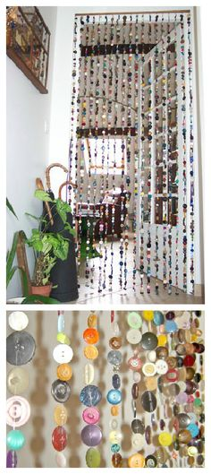 If you have 2000 or more unused odd buttons, try making a curtain as button crazy Isa. ++ Made By Isa…