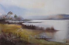 Ilya Ibryaev - Lake - Autumn - watercolour (53х35) cm