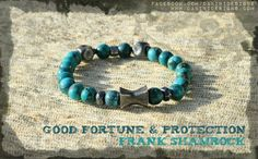 Turquoise, silver bracelet for Him. Good Fortune & Protection. Jewelry with Soul and Purpose!