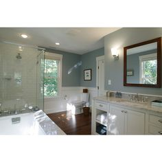 Cape Cod Renovation - Master Bath - traditional - bathroom - boston -... ❤ liked on Polyvore