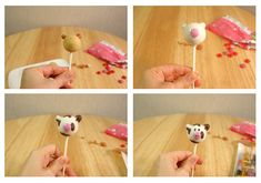 Animal Cake Pops {Cows, Pigs, Bears, and Bumble Bees}   MISS CANDIQUIK