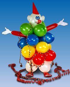 Zu einem KIndergeburtstag gehört ein lustig bunter Clown.  Sie können diesen Clown selber und mit den Kindern zusammen basteln.