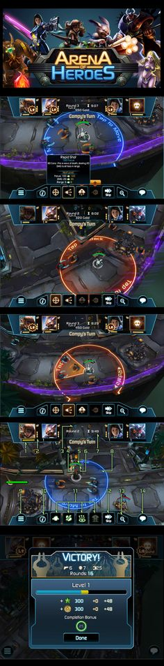 Arena of Heroes Interface and Game Screen