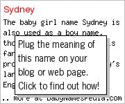 Girl name sydney meaning