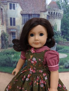Courtenay Road - Victorian dress and apron for American Girl doll with undergarments