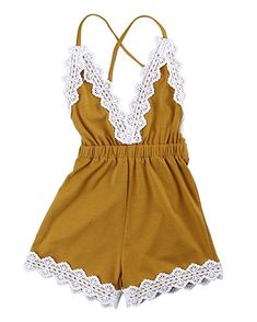 12ed6ae35bbf Ma Baby Baby Girls Halter One-pieces Romper Jumpsuit Sunsuit Outfit Clothes  0-24M (