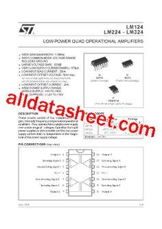 LM324 Datasheet(PDF) - STMicroelectronics Quad, Data Sheets, Pdf, Quad Bike