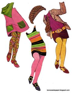 Bonecas de Papel: The Mods 1967