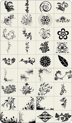 High Definition decorative lace pattern brush collection