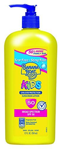 Banana Boat Sunscreen Kids Family Size Broad Spectrum Sun Care Sunscreen Lotion  SPF 50 12 Ounce *** Click image for more details.