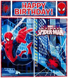 5Piece SpiderMan Scene Setter Set Multicolored * Check this awesome product by going to the link at the image. Note:It is Affiliate Link to Amazon.