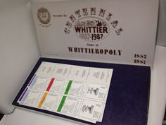 Whittieropoly -board game based on monopoly