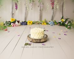 Enchanted woodland Spring Garden Cake Smash Brisbane Photographer www.racheleasleyphotography.com.au