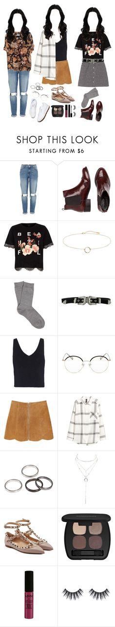 """#3"" by mh-loves1d ❤ liked on Polyvore featuring River Island, Falke, B-Low the Belt, Intermix, Stephane + Christian, Monki, Charlotte Russe, Valentino, Bare Escentuals and NYX"