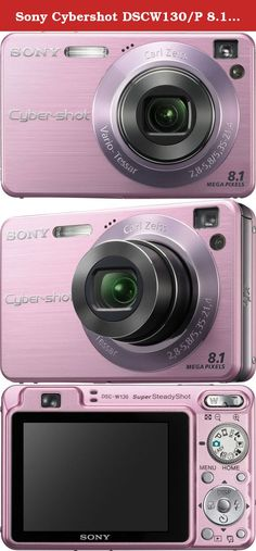 "Sony Cybershot DSCW130/P 8.1MP Digital Camera with 4x Optical Zoom with Super Steady Shot (Pink). The Sony DSC-W130 has Smile ShutterTM technology, which captures smiles the moment they happen. The sleek and enviable, compact body features 8.1 megapixel resolution, 2.5"" TFT LCD display, Carl Zeiss 4x optical zoom lens, Image Stabilization, and Sony's Double Anti-Blur solution for crisp, clear images. In addition, it has Face Detection technology that detects up to eight faces and…"