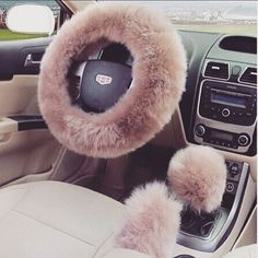 Ok I Didn't Think I'd Like Something Like This For My Car But Clearly I Do Seeing I'm Pinning It lol! I Actually Think This Is A ClassyCute Mix Style Accesory For The Car✔️  Pinterest//ThatSpoiledGirl