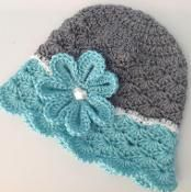 Flowered Shells Hat - via @Craftsy