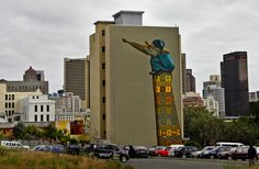THE SAVAGE STREET by Charlie Finch. South African graffiti artist and street sculptor Dal's spiritual, visually conservative art might be the antidote to street-art phobia. Best Street Art, 3d Street Art, Street Artists, Best Graffiti, Graffiti Wall, Grafitti Street, Street Installation, South African Artists, Cape Town South Africa