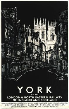 Low Petergate, York - LNER railway poster