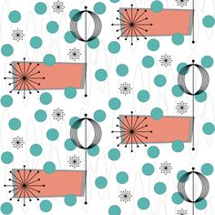 Vicissitude (salmon/green) fabric by gammagammahey on Spoonflower - custom fabric