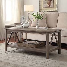Titian Pine Coffee Table in Rustic Grey