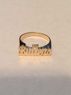 14K Gold Mini Script Name Ring #ring #namering #personalized