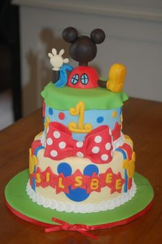 1st Birthday Cake ...Mickey Mouse Clubhouse   # Pin++ for Pinterest #