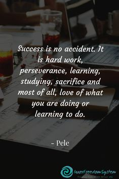 Success is no accident. It is hard work perseverance learning studying sacrifice. - Success is no accident. It is hard work perseverance learning studying sacrifice and most of all lo - Powerful Motivational Quotes, Meaningful Quotes, Inspirational Quotes, Motivational Posters, Exam Motivation, Study Motivation Quotes, Motivacional Quotes, Life Quotes, Calm Quotes