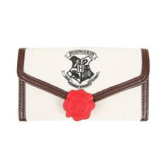 Harry Potter Hogwarts Letter Flap Wallet Hot Topic ($14) ❤ liked on Polyvore featuring bags, wallets, snap wallet, white bag, initial bags, white wallet and initial wallets
