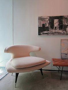 1950's Karpen pink chair