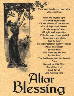 Altar Blessing, Book of Shadows Page, BOS Pages, Witchcraft Spell, Wiccan Poster in Collectibles | eBay