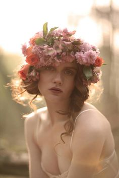 Flowers in your hair. Photography by Natalie J Watts