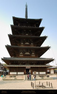 Constructed in the year 607, the Horyu-ji temple in Ikaruga, Japan, stands as the world's oldest building made entirely of wood. #JapaneseTemples #Japan