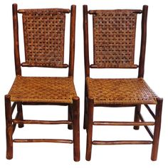 Pair of 1930'S Old Hickory Side Chairs