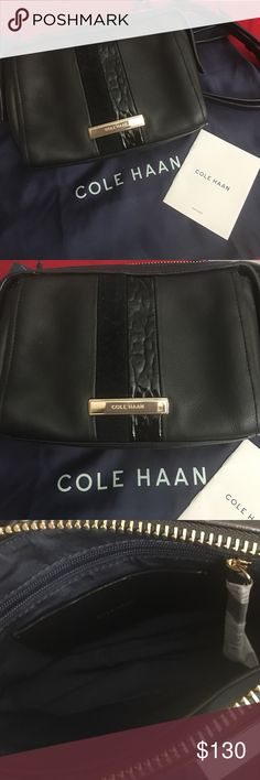 New 💯Cole Haan Davenport Mini Cross Bag😍 This genuine Cole Haan mini cross body bag is crafted from a material specifically chosen for its beauty and quality . With Leather & Suede Design . Cole Haan Bags Crossbody Bags